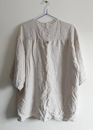 Очень красивая рубашка 100% лён4 фото