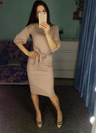 Платье миди,рукава фонарик новое