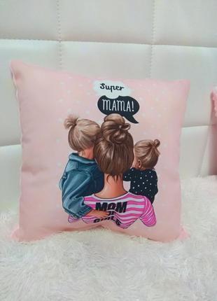 Подушка для мамы девочек