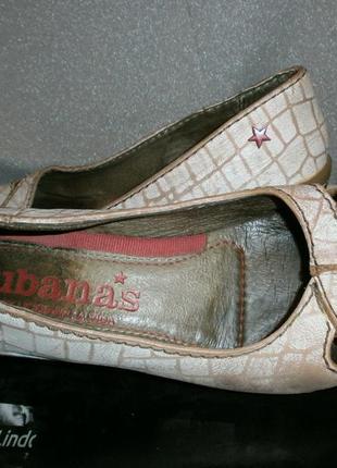 Комфортные открытые туфли- cubanas-37р