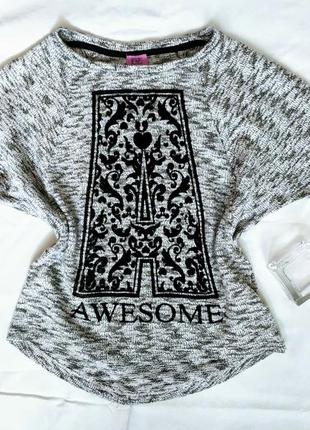 Пуловер на девочку awesome от f&f. распродажа!!!