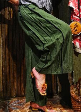 Очень модные штаны кюлоты клеш бохо этно стиль брюки шаровары