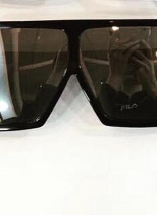 Очки маска ysl с чёрными и зеркальными стёклами4 фото