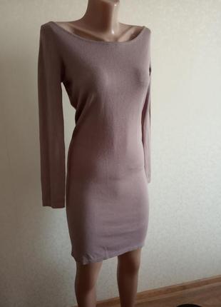 Новое,платье, трикотаж, лаванда,миди
