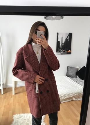 📎 двубортное оверсайз пальто bershka