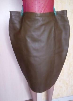 Шикарная юбка из натуральной мягенькой кожи/юбка кожаная/юбка/кожаная юбка