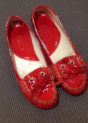 Туфлі шкіра брендові l´idea italy leather 39 - 40  оригінал мокасини