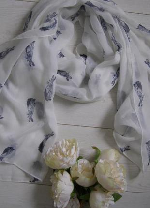 Joules стильный шарф палантин с кроликами