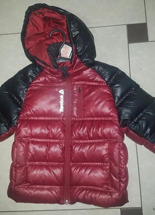 Куртка, пуховик reebok, оригинал - р-р 4 годика