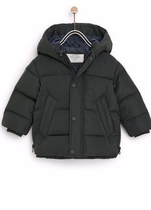 Пуховик zara 2-3 года рост 98 см, куртка зара мальчику