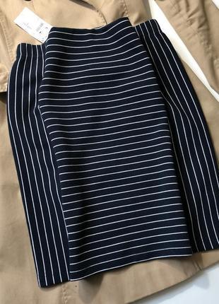 Новая юбка в полоску kiabi h&m