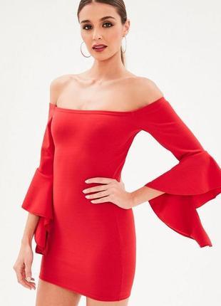 Шикарное платье на плечи с широким рукавчиком