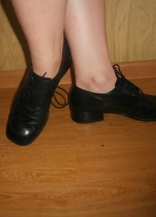 Удобные/ортопедические ботиночки/нат.кожа/25,5 см/низкий ход