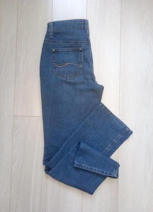 Синие классические джинсы с высокой посадкой mac melanie