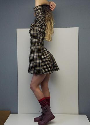 """Классическое в клетку, платье """"школьное"""", студентке, приталенный силует, платье рубашка"""