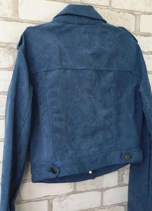 Замшевая стильная курточка на весну3 фото