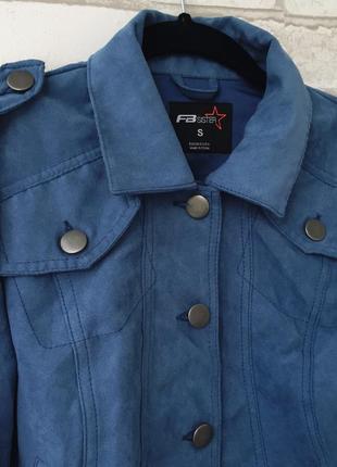 Замшевая стильная курточка на весну2 фото
