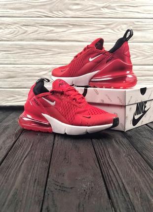 Красные женские кроссовки nike air max 270
