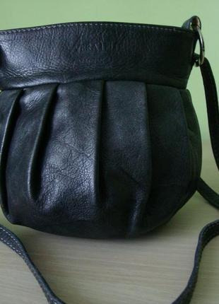 Італійська шкіряна сумка - мішечок vera pelle.