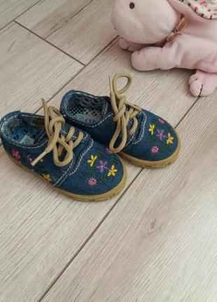 Джинсовие туфельки - еспандрильи