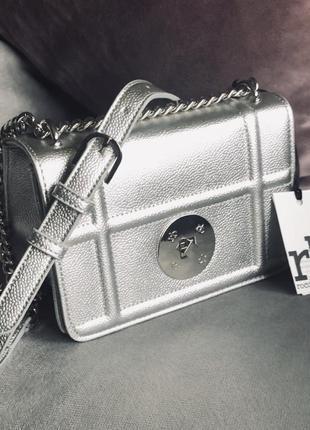 Новая сумка в цвете серебро от итальянского бренда roccobarocco (оригинал)