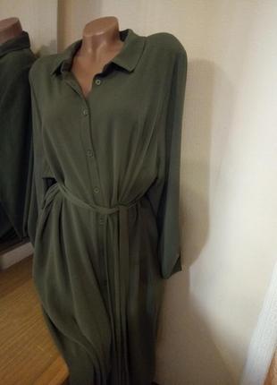 Платье рубашка макси2