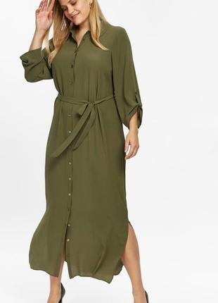 Платье рубашка макси3
