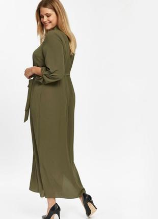Платье рубашка макси5