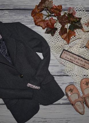 11 - 12 лет 152 см натуральный фирменный пиджак джемпер классика девочке зара zara1