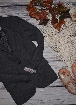 11 - 12 лет 152 см натуральный фирменный пиджак джемпер классика девочке зара zara4
