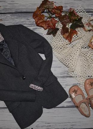 11 - 12 лет 152 см натуральный фирменный пиджак джемпер классика девочке зара zara6