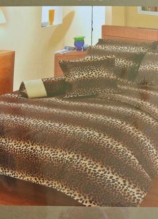 """Постельное бельё bella donna. 2-спальный комплект, принт """"леопард""""."""