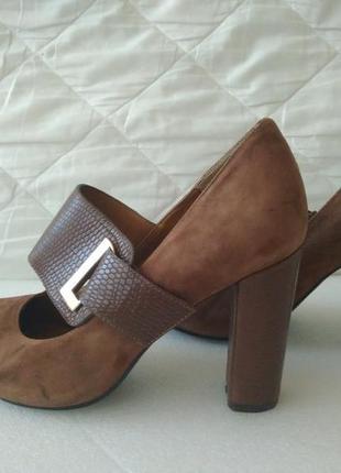 Туфли замшевые каблук размер 39
