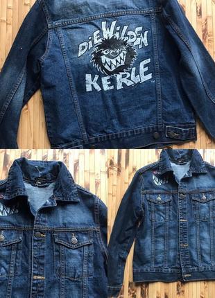 Модная джинсовая куртка 152-158