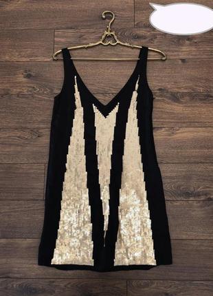 Вечернее платье с золотистыми паетками, 8р-10р. ткань - шёлк!!!