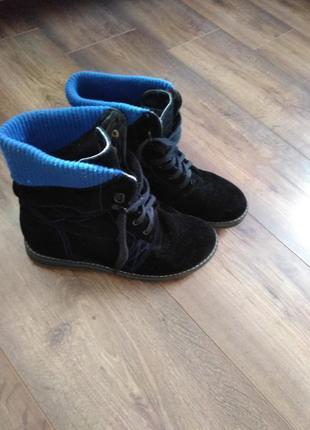 Модные ботинки сапоги на шнуровке