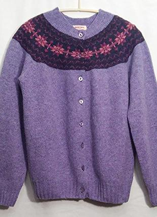 Berteil paris, свитер кардиган шерсть, made in scotland