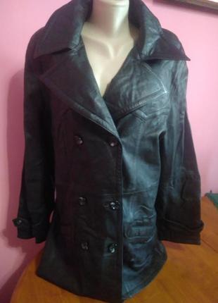 Німецька шкіряна куртка/пальто  /кожаная куртка