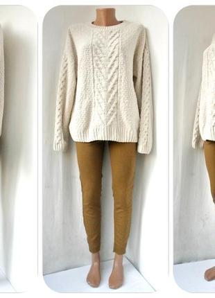 Модный свитер primark серо-бежевого цвета. размер uk 12/eur 40.