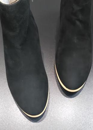 Ботинки из натуральной замши европейского бренда marc o'polo черные, р. 37, 39, 403