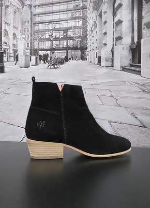 Ботинки из натуральной замши европейского бренда marc o'polo черные, р. 37, 39, 402