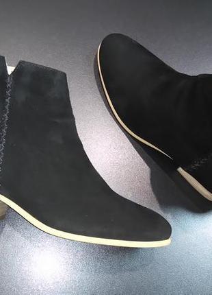 Ботинки из натуральной замши европейского бренда marc o'polo черные, р. 37, 39, 404