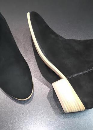 Ботинки из натуральной замши европейского бренда marc o'polo черные, р. 37, 39, 405