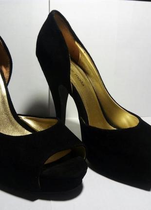 Шикарные брендовые замшевые туфли avante moda 37 размер5 фото