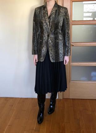 Чёрная плиссированная юбка шерсть