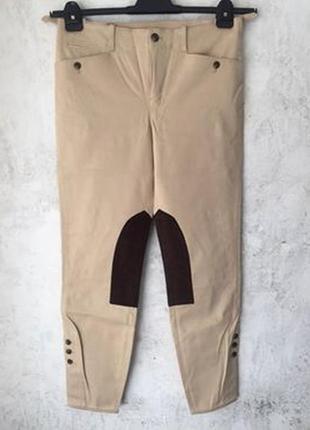 Легендарные бежевые брюки для верховой езды ralph lauren оригинал