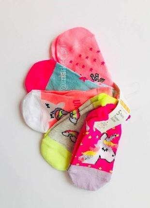 "Детские носки ""единорог"" примарк от 2 до 10 лет primark"