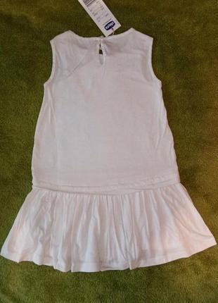 Платье chicco, р.104 - 4 года для девочки. новое, летнее3