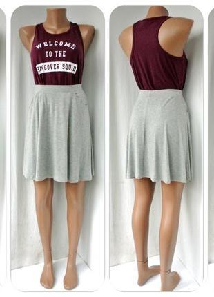 Новая. модная брендовая юбка asos серый меланж. размер uk 8/ eur 36(s).