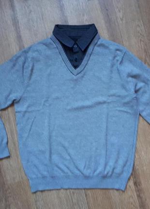 Джемпер свитер с эффектом 2 в одном next